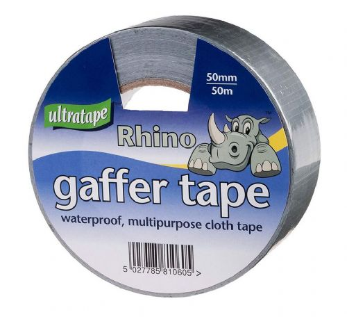 Ultratape Rhino Gaffer Tape 50mm x 50 mtr Silver PACK OF TWO